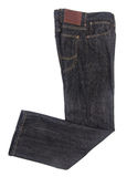 Jeans Isolated on blackground Royalty Free Stock Photography