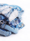 Jeans isolated on white Stock Photography