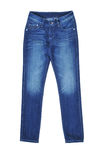 The jeans isolated on white background. Clothes Royalty Free Stock Photos