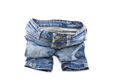 Jeans isolati su fondo bianco fotografia stock libera da diritti