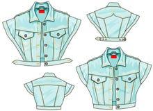 Jeans-Jacken-Bolero-Fliege lizenzfreies stockbild