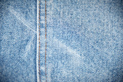 Jeans jacket detail Stock Photography