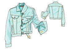 Jeans Jacket royalty free stock images