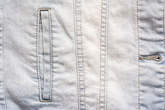 Jeans Jacket Pocket Close Up Stock Photos