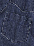 Jeans jacket's pocket. High-resolution jeans material background, pocket and white thread details Royalty Free Stock Photo