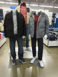 Jeans  jackets and winter cloths Stock Photography