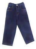 Jeans, jeans del bambino su blackground Immagine Stock