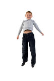 Jeans Kid Jumping. Stock Images