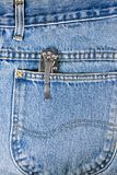 jeans and knife Royalty Free Stock Photos