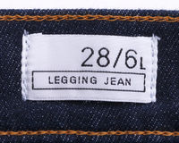 Jeans with  label Stock Photography