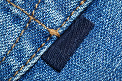 Jeans with label Royalty Free Stock Images