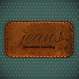 Jeans Label. In Vintage Retro Style. Illustration Royalty Free Stock Image