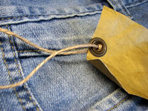 Jeans label Royalty Free Stock Images
