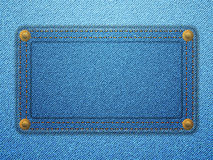 Jeans label background Royalty Free Stock Image