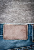 Jeans label Royalty Free Stock Photography