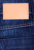 Jeans Label dark Denim Stock Image