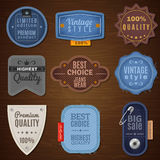 Jeans Label Icons Stock Image