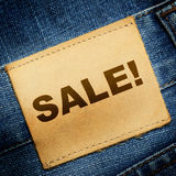 Jeans label SALE Stock Photography