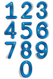 Jeans label style numbers with seams and buttons. Jeans label style numbers with seams and buttons, vector set Royalty Free Stock Photos