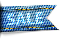 Jeans label with the word sale for shopping Royalty Free Stock Photography