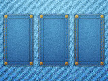 Jeans labels background Stock Images