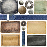 Jeans labels Stock Images