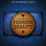 Jeans leather label Royalty Free Stock Photography