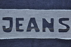 Jeans letter. Royalty Free Stock Images