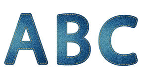 Jeans letters ABC Royalty Free Stock Photo