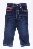 jeans of leuke jeans voor jonge geitjes op een achtergrond Royalty-vrije Stock Fotografie