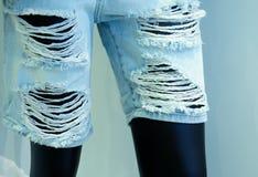 Jeans loqueteux photographie stock