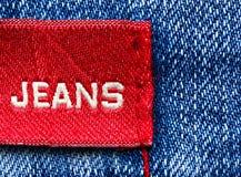 jeans märker red Royaltyfri Foto