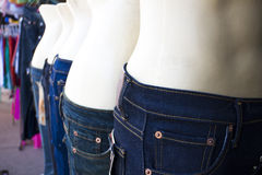 Jeans on manikin Stock Photo