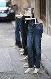 Jeans and mannequins Stock Photography