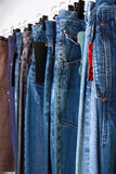 Jeans at market Royalty Free Stock Image