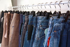 Jeans at market Stock Photography