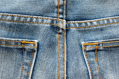 Jeans masern mit Naht Lizenzfreie Stockbilder