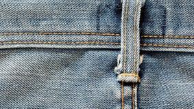 Jeans masern mit Naht Lizenzfreies Stockfoto
