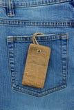 Jeans masern und Preis lizenzfreies stockbild