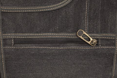 Jeans material with zipper Royalty Free Stock Photos