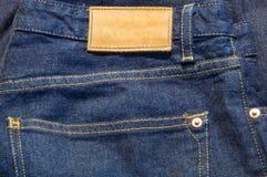 Jeans met lege markering Royalty-vrije Stock Afbeeldingen