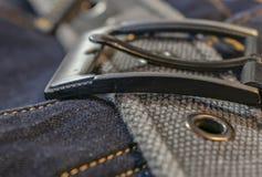 Jeans met riem royalty-vrije stock afbeeldingen