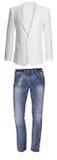 Jeans met wit jasje royalty-vrije stock foto