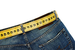 Jeans with meter belt slimming Stock Image