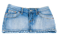 Jeans mini skirt Royalty Free Stock Photo