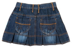 Jeans mini skirt insulated Royalty Free Stock Image