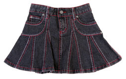 Jeans mini skirt insulated Royalty Free Stock Photos