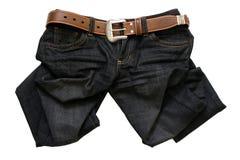 Jeans mit einem Gurt Lizenzfreies Stockbild