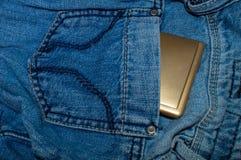 Jeans mit Kosmetik Lizenzfreie Stockbilder