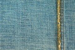 Jeans mit Naht Stockbild